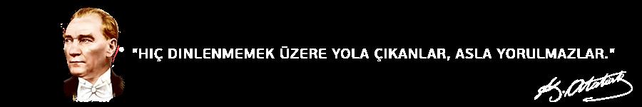 Mustafa Kemal Atatürk'ün bir sözü.
