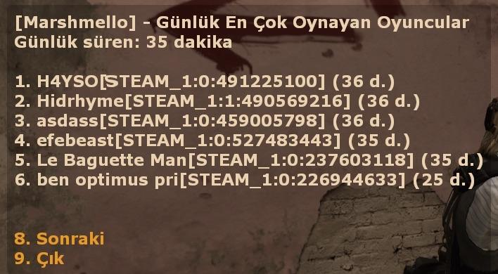 [GENEL] - Günlük Toptime!, [GENEL] - Günlük Toptime! plugini, eklentisi, CS:GO Plugin, CS GO Plugin, csgo, cs:go, csgo plugin, plugins, pluginler, plugin, satis, satış, plugincim, cs:go plugins, türkçe plugin, sourcemod, pluginleri, eklentiler, CS:GO eklentileri, CSGO eklentileri